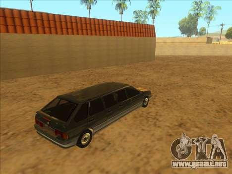 VAZ 2114 9-door para GTA San Andreas vista hacia atrás