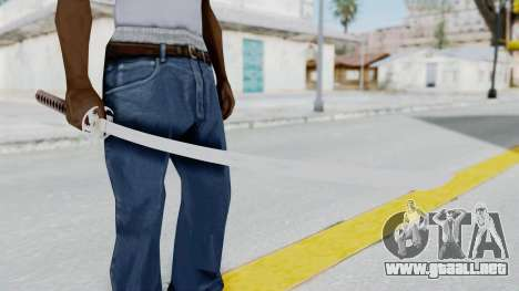 Samurai Sword para GTA San Andreas tercera pantalla