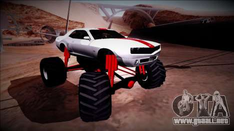 GTA 5 Bravado Gauntlet Monster Truck para la vista superior GTA San Andreas