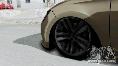 Seat Leon para GTA San Andreas vista posterior izquierda