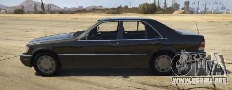 GTA 5 Mercedes-Benz S600 (W140) [Replace] v1.1 vista lateral izquierda