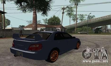 Subaru Impreza WRX STi Tunable para GTA San Andreas left