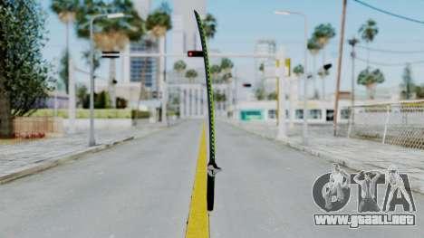 Genji Katana - Overwatch para GTA San Andreas segunda pantalla