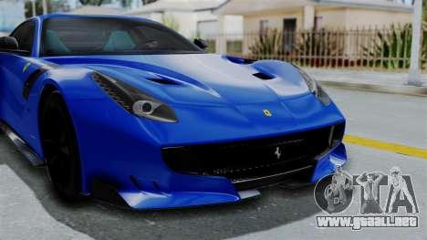 Ferrari F12 TDF 2016 para visión interna GTA San Andreas