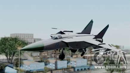 MIG-25 Foxbat para GTA San Andreas