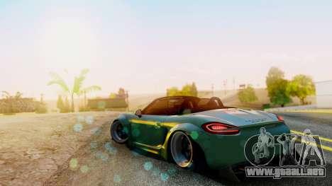 Porsche Boxster GTS LB Work para GTA San Andreas left
