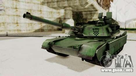 M1A2 Abrams Woodland Croatian para GTA San Andreas vista posterior izquierda