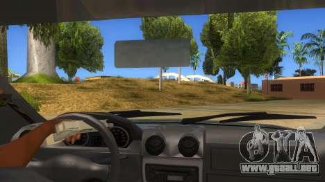 Dacia Logan V2 Final para visión interna GTA San Andreas