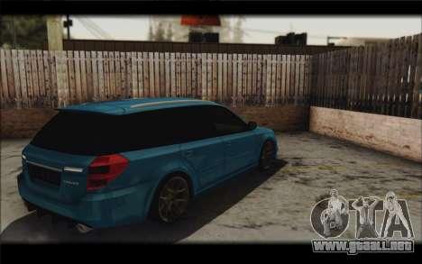 Subaru Legacy STi Wagon 2008 para visión interna GTA San Andreas