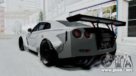 Nissan GT-R R35 2010 Liberty Walk para GTA San Andreas left