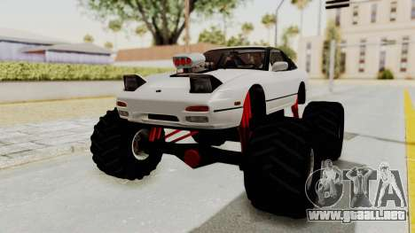Nissan 240SX Monster Truck para la visión correcta GTA San Andreas