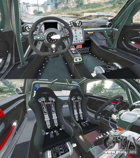 GTA 5 Pagani Zonda R vista lateral trasera derecha