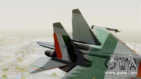 SU-30 MKI para GTA San Andreas vista posterior izquierda