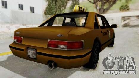 GTA 3 - Taxi para GTA San Andreas vista posterior izquierda