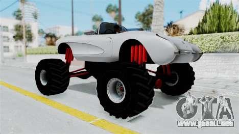 Chevrolet Corvette C1 1962 Monster Truck para GTA San Andreas left