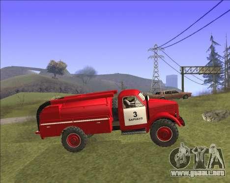 GAZ 63 de Bomberos para GTA San Andreas left