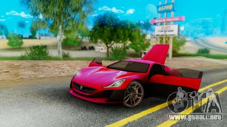 Rimac Concept One para GTA San Andreas left