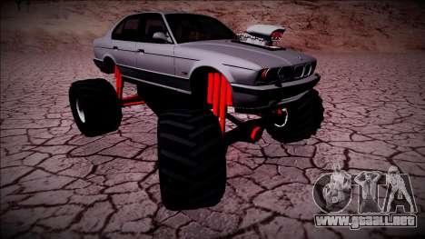BMW M5 E34 Monster Truck para la visión correcta GTA San Andreas