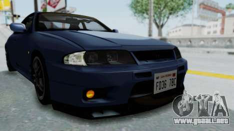 Nissan Skyline R33 GT-R V-Spec 1995 para la vista superior GTA San Andreas