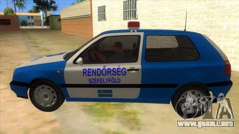 Volkswagen Golf 3 Police para GTA San Andreas left