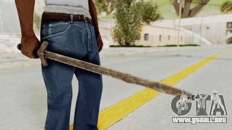 Skyrim Iron Long Sword para GTA San Andreas segunda pantalla
