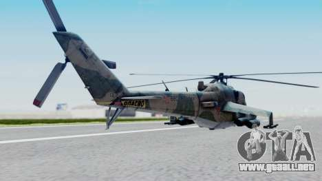 Mi-24V Russian Air Force 46 para GTA San Andreas left