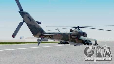 Mi-24V Russian Air Force 46 para GTA San Andreas left