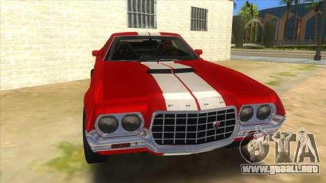 1972 Ford Gran Torino Drag para GTA San Andreas vista hacia atrás
