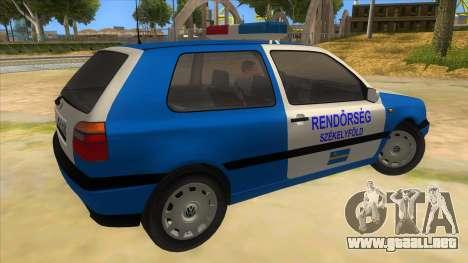 Volkswagen Golf 3 Police para la visión correcta GTA San Andreas