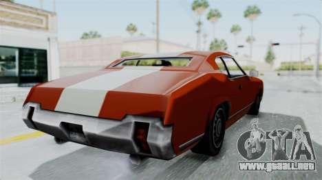 GTA Vice City - Sabre Turbo (Unsprayable) para la visión correcta GTA San Andreas