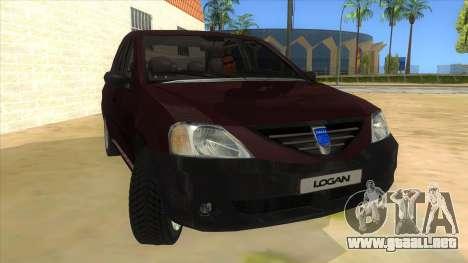 Dacia Logan V2 Final para GTA San Andreas vista hacia atrás