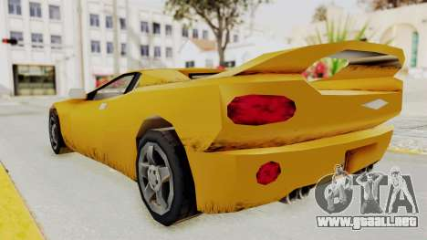 GTA 3 Infernus para GTA San Andreas vista posterior izquierda