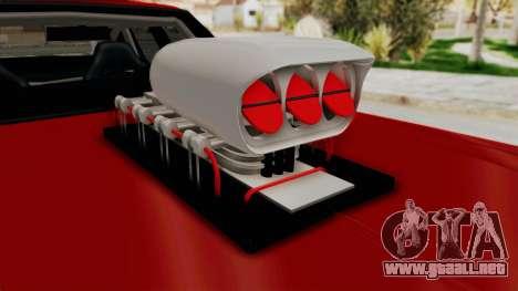 Dodge Monaco 1974 Drag para GTA San Andreas vista hacia atrás