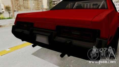 Dodge Monaco 1974 Drag para visión interna GTA San Andreas