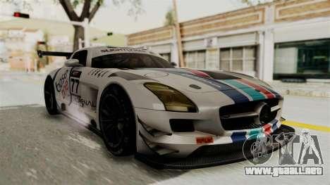 Mercedes-Benz SLS AMG GT3 PJ3 para vista inferior GTA San Andreas