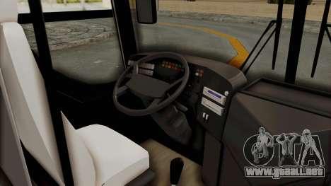 Superlines Ordinary Bus para GTA San Andreas vista hacia atrás