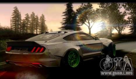 Ford Mustang RTRX Coupe para GTA San Andreas vista posterior izquierda