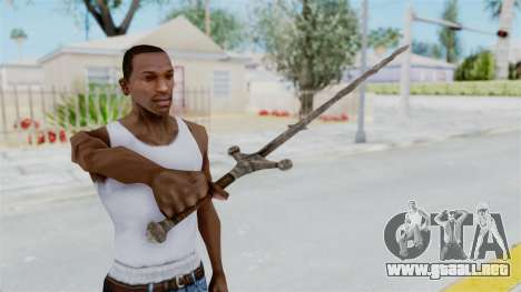 Skyrim Iron Claymore para GTA San Andreas tercera pantalla