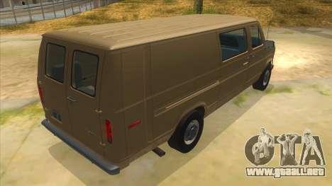 Ford E-250 Extended Van 1979 para la visión correcta GTA San Andreas