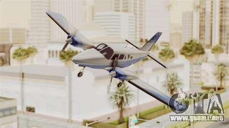 Piper Seneca II v2 para GTA San Andreas vista posterior izquierda