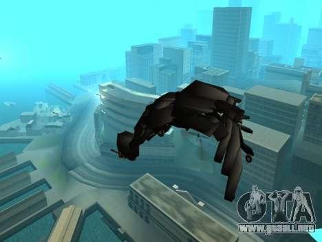 The Dark Knight Rises BAT v1 para la vista superior GTA San Andreas