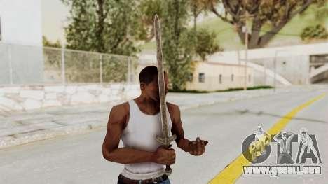 Skyrim Iron Long Sword para GTA San Andreas tercera pantalla