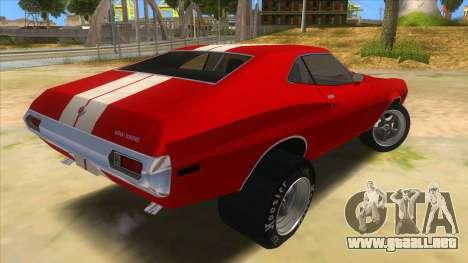 1972 Ford Gran Torino Drag para la visión correcta GTA San Andreas
