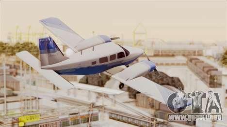 Piper Seneca II v2 para la visión correcta GTA San Andreas