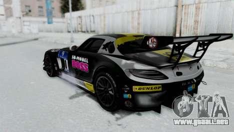 Mercedes-Benz SLS AMG GT3 PJ6 para las ruedas de GTA San Andreas