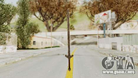 Skyrim Iron Long Sword para GTA San Andreas