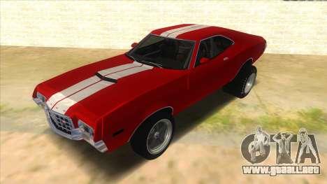 1972 Ford Gran Torino Drag para GTA San Andreas
