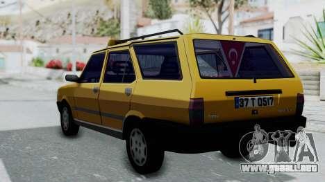 Tofas Kartal Taxi para GTA San Andreas left