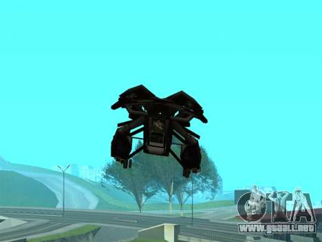 The Dark Knight Rises BAT v1 para vista inferior GTA San Andreas