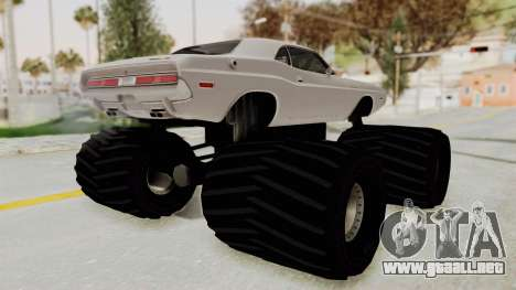 Dodge Challenger 1970 Monster Truck para GTA San Andreas left